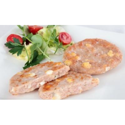 Hamburger di pollo e formaggio-veggie burger di carne