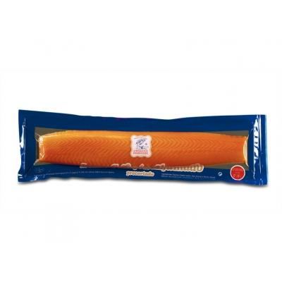 """Lomo salmón ahumado """"Ahumados Domínguez"""" - Trozos de unos 100-120g envasado al vacío"""