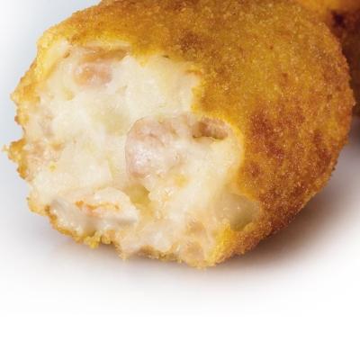 Alle crocchette di prosciutto e pollo